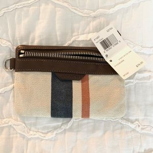COACH - Striped Cancas Keycase Envelope - NWT